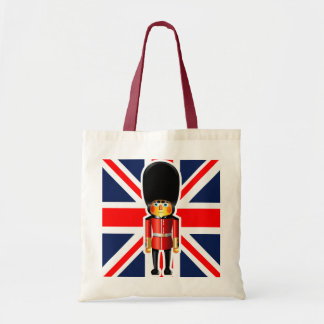 Queen's Guard Soldier Cartoon Tote Bag