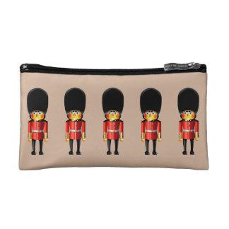 Queen's Guard Soldiers Cartoon Makeup Bags