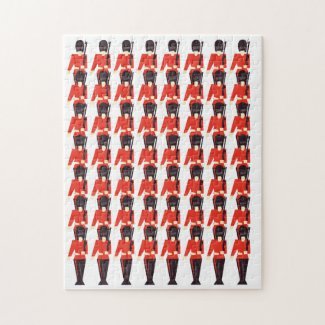 Queens Guard Soldiers Pattern Jigsaw Puzzle