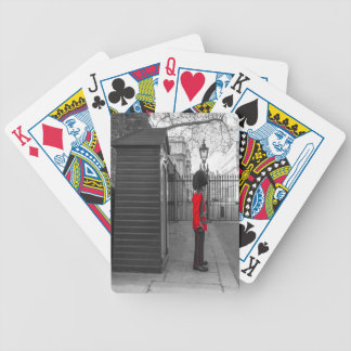 Queen's Guard standing guard at Clarence House Bicycle Playing Cards