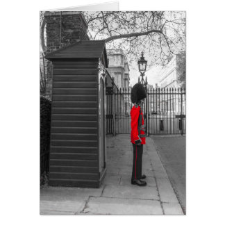 Queen's Guard standing guard at Clarence House Card