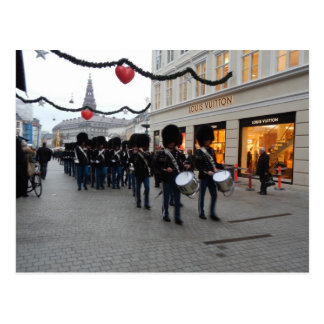 Queens Guard Stroget Copenhagen Denmark Postcard