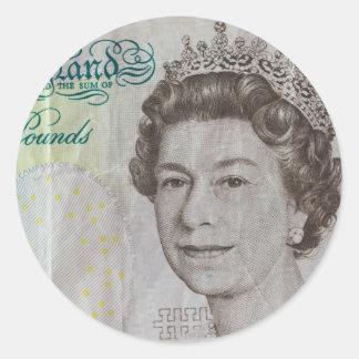 Queens head classic round sticker
