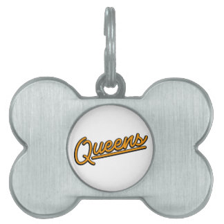 Queens in orange pet ID tags