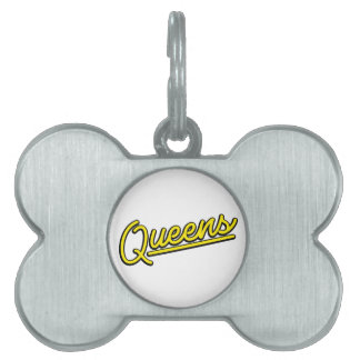 Queens in yellow pet ID tags