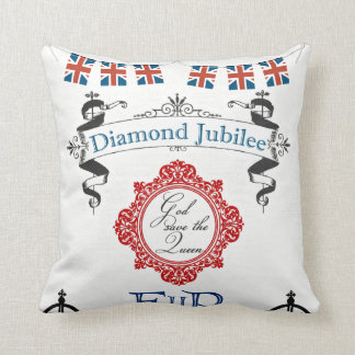 Queen's Jubilee Throw Pillow