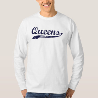 Queens, New York City NYC - Black Lettering T-Shirt