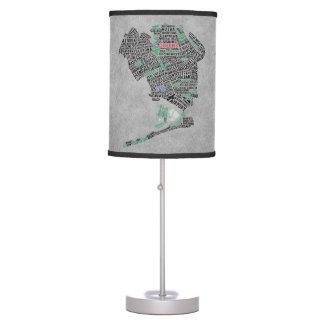 Queens New York NYC Typographic Lamp