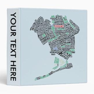 Queens New York Text Art Binder