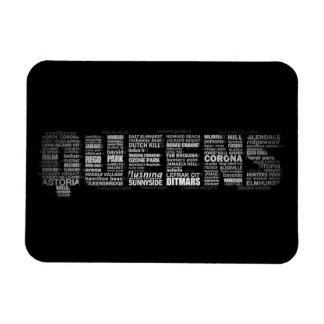Queens New York Typography Magnet