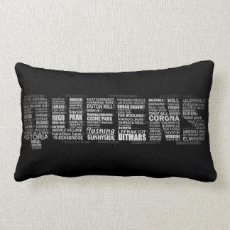 Queens New York Typography Pillow