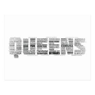 Queens New York Typography Postcard