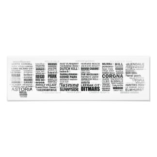 Queens New York Typography Poster Photo