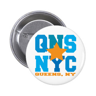 Queens, NY Blue Button