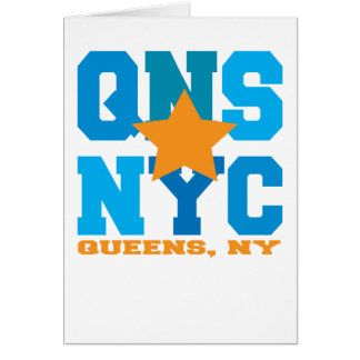Queens, NY Blue Greeting Card