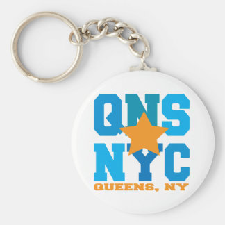 Queens, NY Blue Keychain