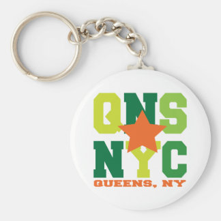 Queens, NY Green Keychain