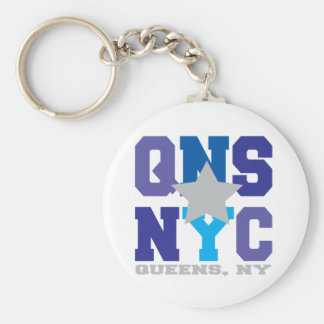 Queens, NY Purple Keychain