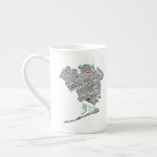 Queens, NYC Typography Map Art Mug