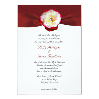 Queen's Painted Roses 5x7 Paper Invitation Card