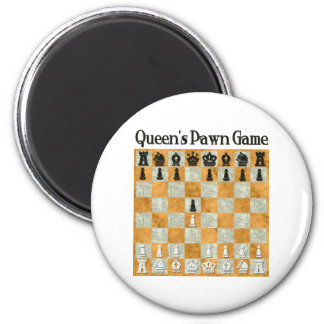 Queen's Pawn Game Magnet