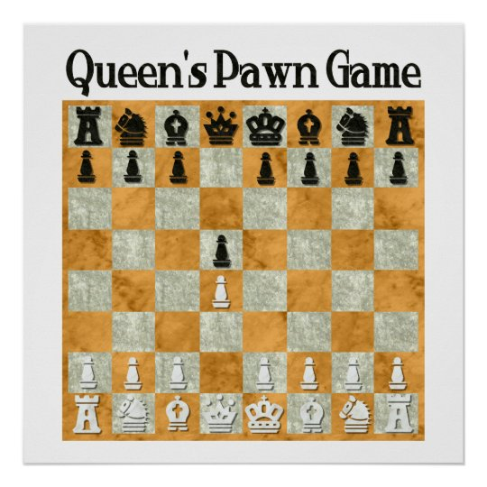 Queen's Pawn Game Poster