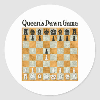 Queen's Pawn Game Stickers