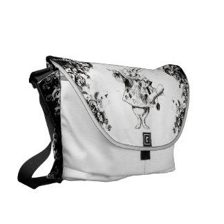 Queen's Rabbit - Vintage Alice Swirls Collection Courier Bag