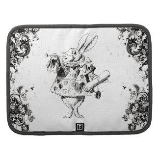 Queen's Rabbit - Vintage Alice Swirls Collection Folio Planners