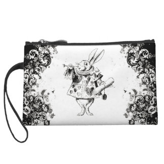 Queen's Rabbit - Vintage Alice Swirls Collection Wristlet Wallet