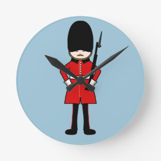 Queen's Royal Guard Round Clocks