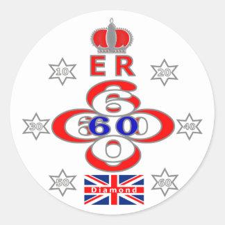 Queens Royal Jubilee stars design Classic Round Sticker