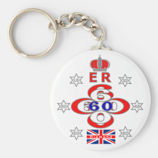 Queens Royal Jubilee stars design Keychain