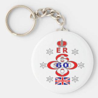Queens Royal Jubilee stars design Keychains