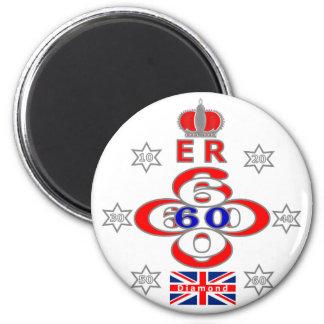 Queens Royal Jubilee stars design 2 Inch Round Magnet