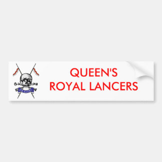 Queens Royal Lancers Bumper Sticker