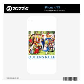 Queens Rule iPhone 4S Decals