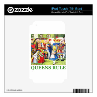 Queens Rule iPod Touch 4G Decal