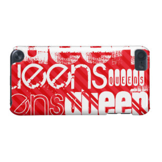 Queens; Scarlet Red Stripes iPod Touch 5G Cover