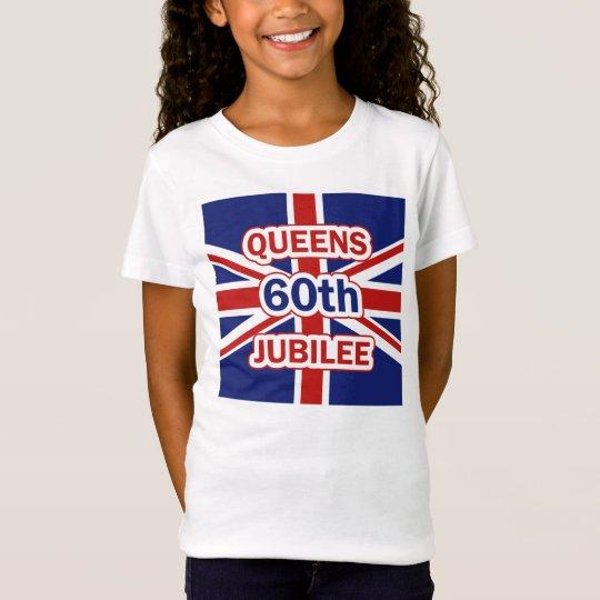 Queens Sixtieth Diamond Jubilee Union Jack Flag T-Shirt