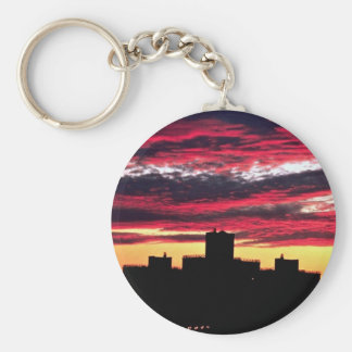 Queens sunset, New York, U.S.A. Key Chains