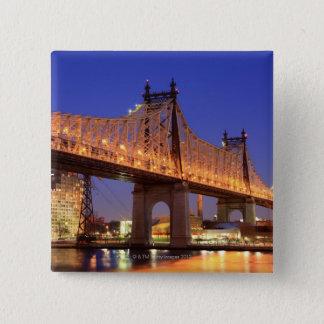 Queensboro Bridge and the East River Pinback Button