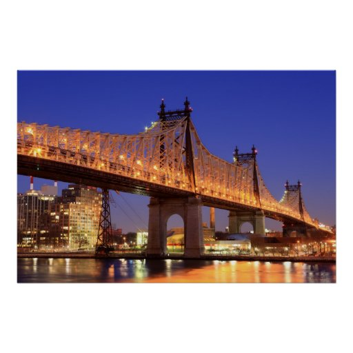 Queensboro Bridge and the East River Poster