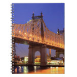 Queensboro Bridge and the East River Spiral Notebook