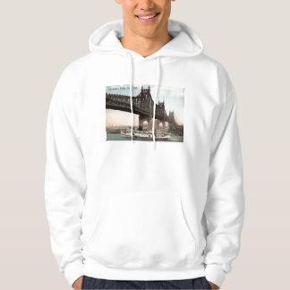 Queensboro Bridge, New York City 1915 Vintage Hoodie