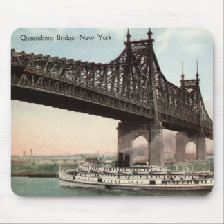 Queensboro Bridge, New York City 1915 Vintage Mouse Pad