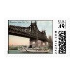 Queensboro Bridge, New York City 1915 Vintage Stamp