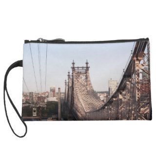 Queensboro Bridge Suede Wristlet