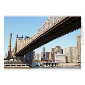 Queensborough Bridge and Manhattan Card