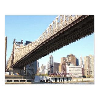 Queensborough Bridge and Manhattan Personalized Invites